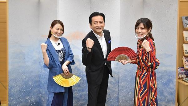 田野アサミさん、山口祥義知事、衣川里佳さん